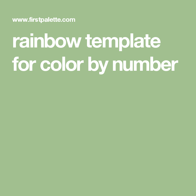rainbow template for color by number | Rainbow, Templates