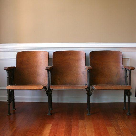 Chairs. movie theater chairs. man furniture. wood. folding cinema ...