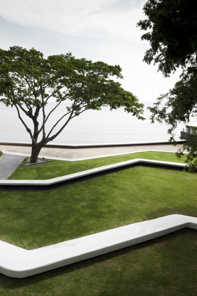 Terraces. Baan San condominium development Kramm, designed by Somdoon Architects. Hua Hin, Thailand