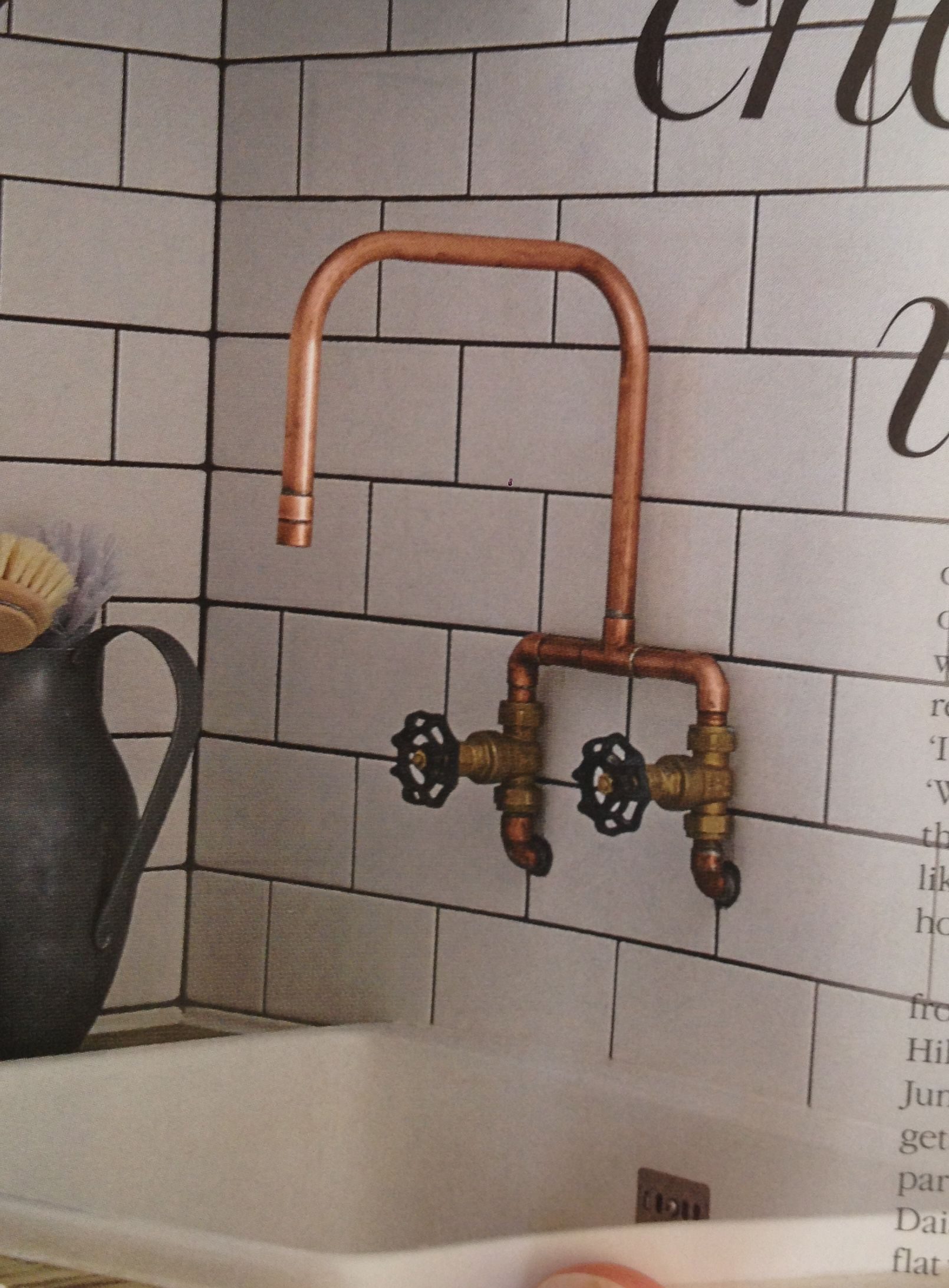 diy faucet with copper pipes and brass fittings - Kitchen Sink Tap Fittings