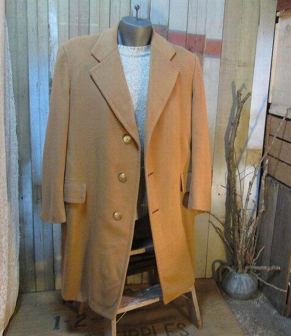 Vintage Camel Cashmere Coat Hart Schaffner Marx by funkomavintage ...