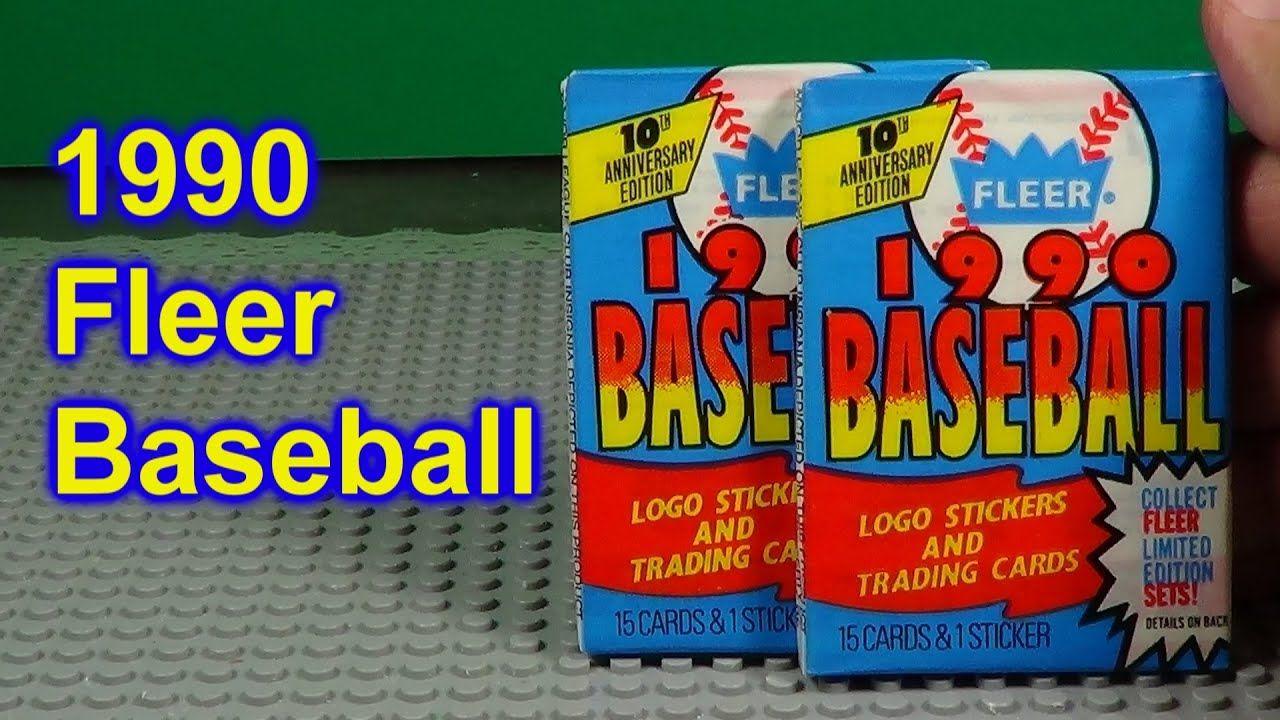 1990 fleer baseball cards opening 2 packs in 2020