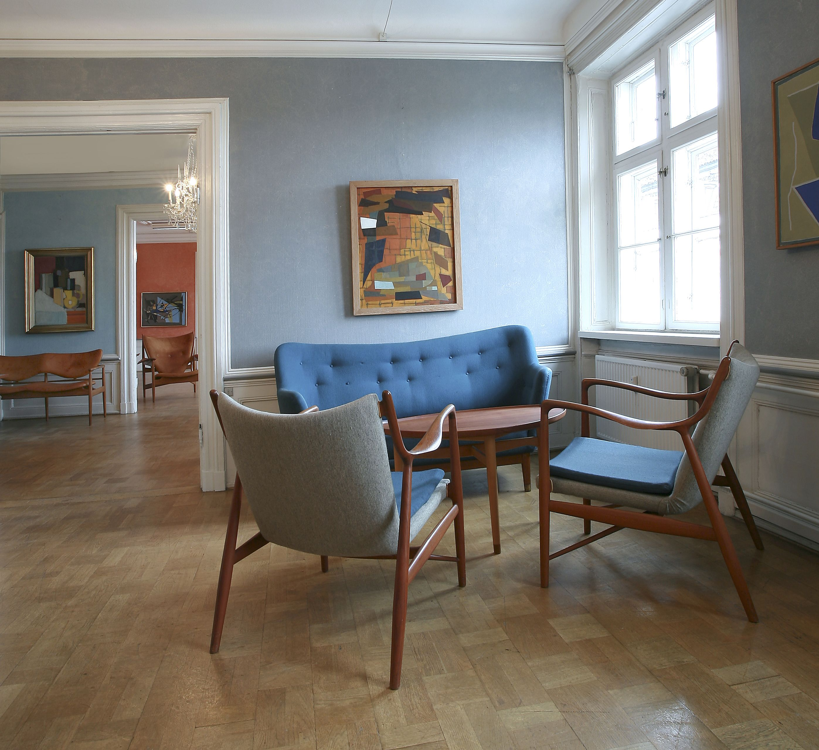 Interior At The Auction House With Furniture By Finn Juhl And Paintings Vilhelm Lundstrm