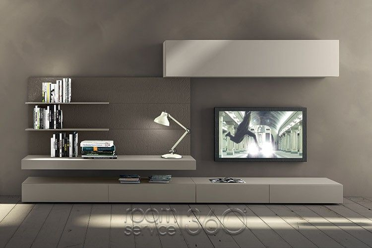 I-modulART 277 Wall Unit by Presotto | floating TV cabinet in 2019 ...