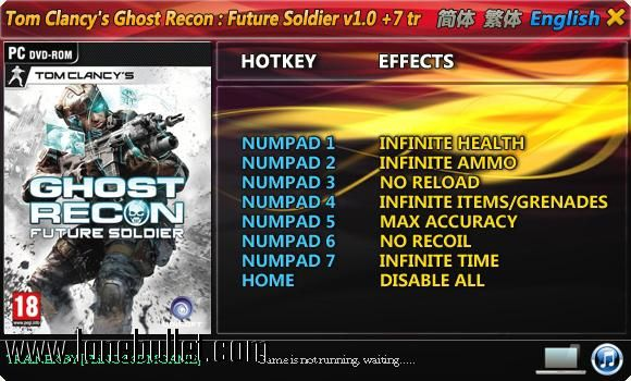 ghost recon future soldier trainer free download