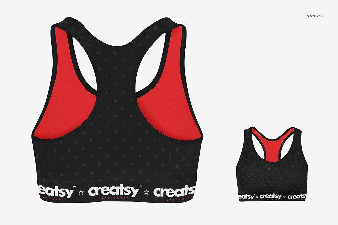 c4896921a5bb6 Sport Bra 3 Mockup Set  net behance creatsyofficial instagram ...
