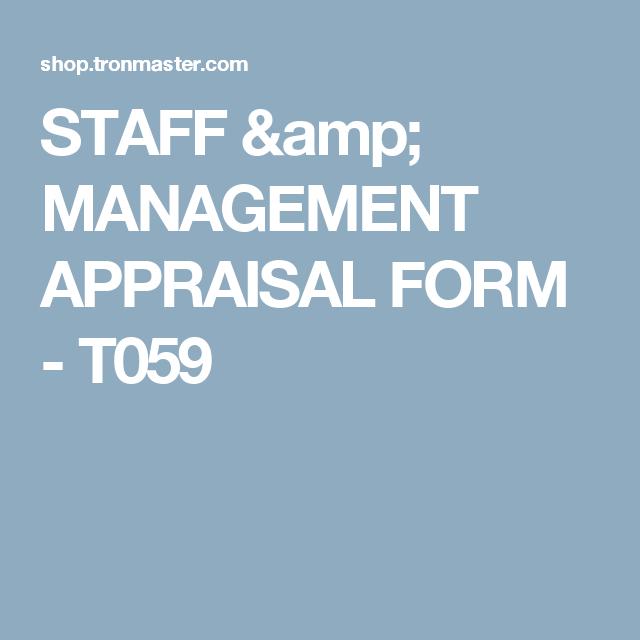 Staff  Management Appraisal Form  T  Staff  Management