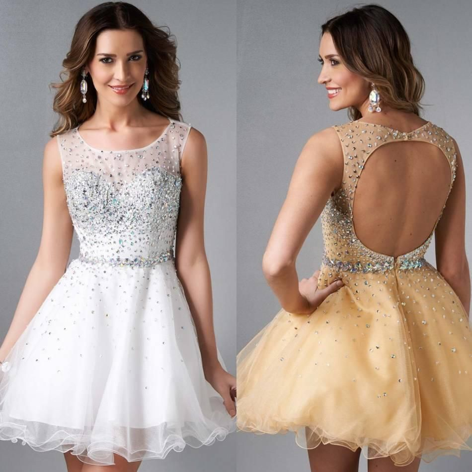 Hot sale th grade prom dresses scoop aline homecoming dresses