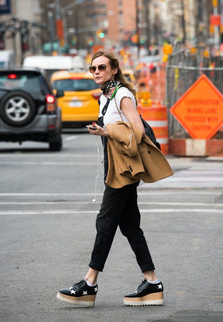 5c0da9d20f8 Diane Kruger Wearing Her Stella McCartney Platforms
