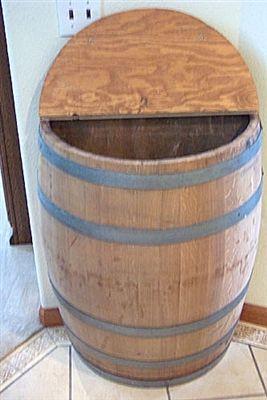 storage oak wine barrels. Wine Barrel Wall Storage W/ Hinged Lid   Go Barrels $215 Free Shipping. Oak