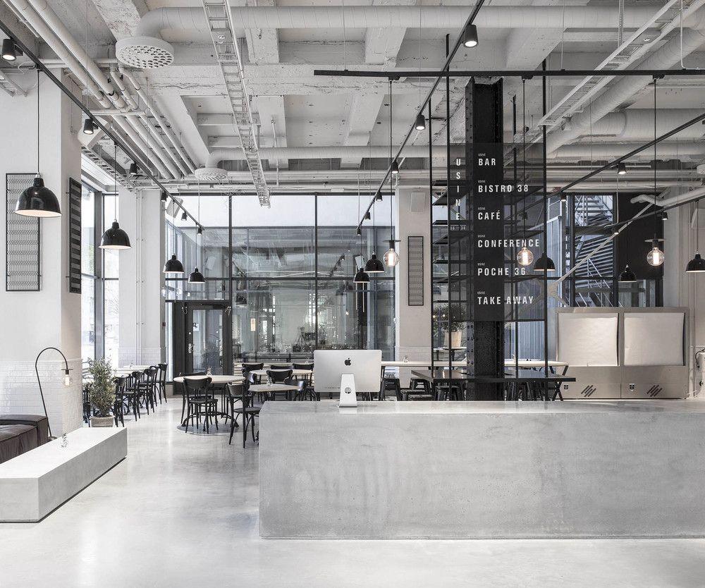 a concrete concept: usinerichard lindvall | restaurant