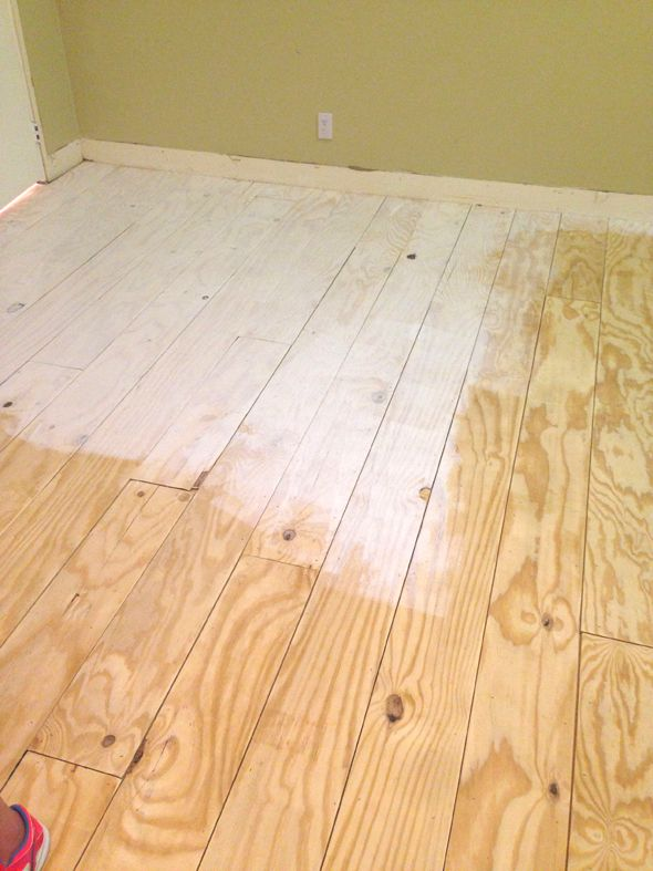 Diy Wide Plank Floors Made From Plywood Tiny Home Project
