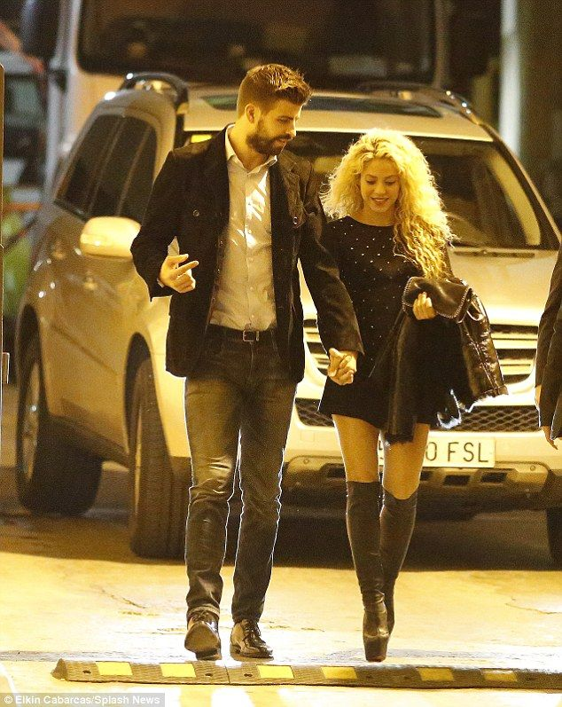 Shakira Puts On A Leggy Display In Super Short Black Dress And