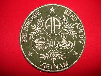 U.S.+Army+Patches+Vietnam | Vietnam War Patch US Army 3rd Brigade 82nd Airborne Division VIETNAM