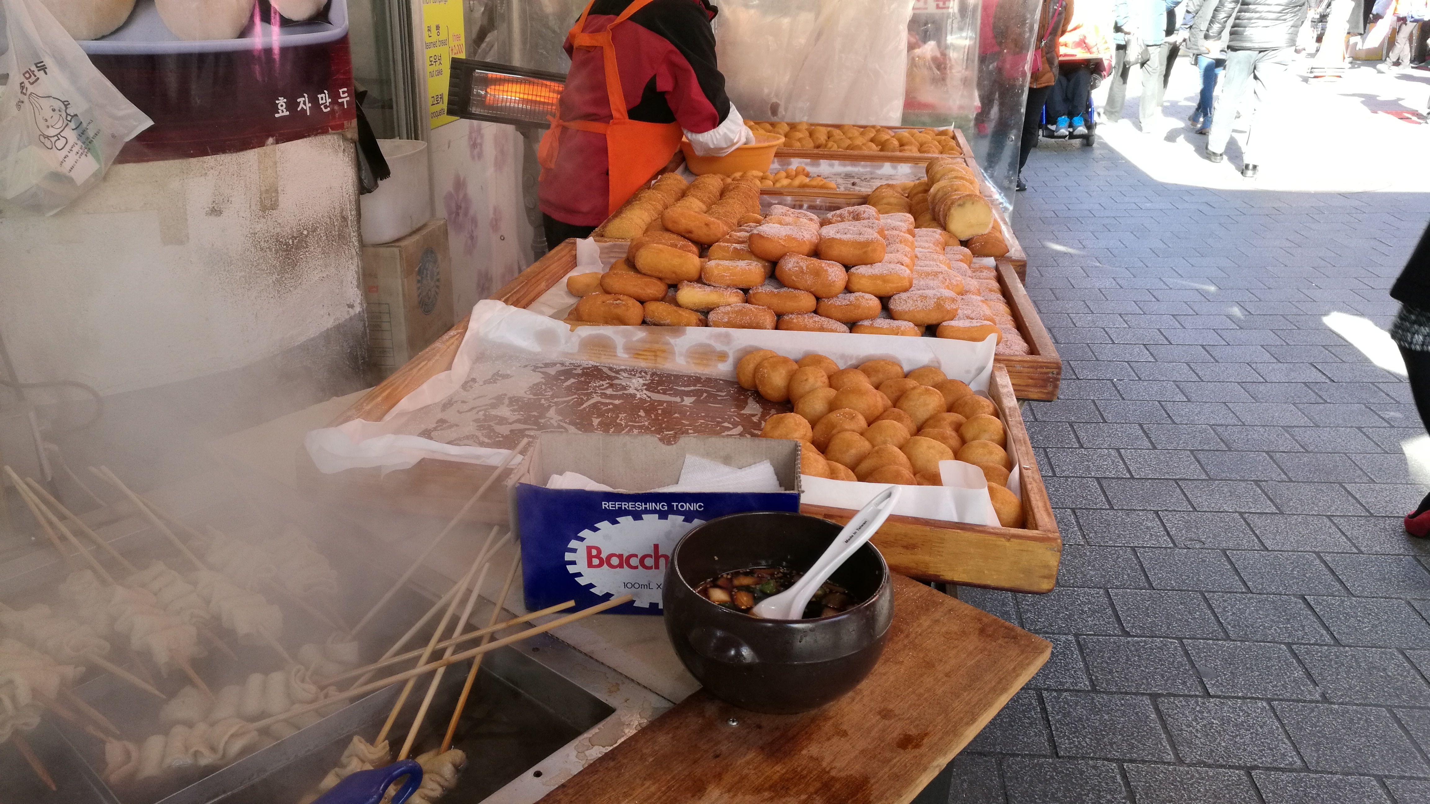 Puesto callejero en Seúl