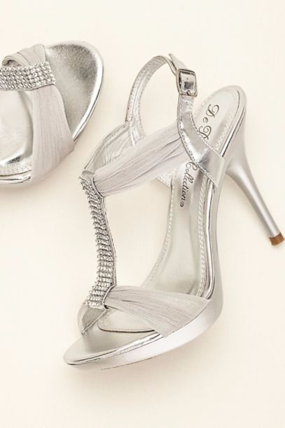 4d3bf9fc73bb5 Crystal T-Strap High Heel Sandal at David's Bridal | Quinceanera ...