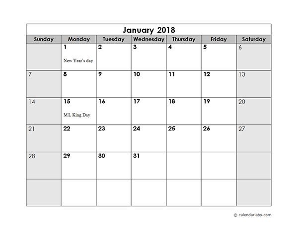Monthly Calendar With Us Holidays  Bloomington Stake