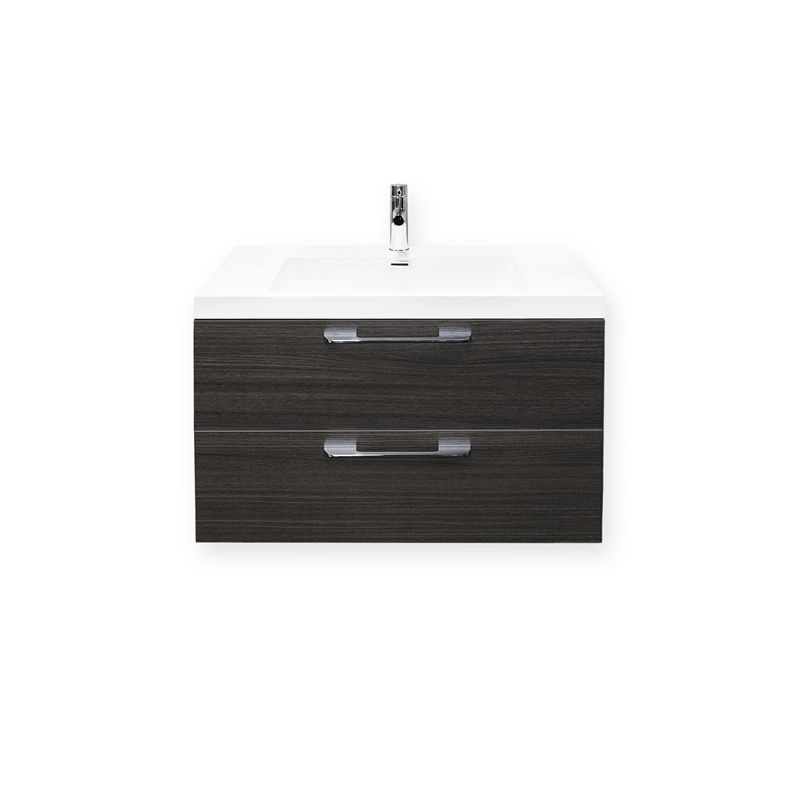 Find Forme 800mm Oak Satin Cabin Wall Hung Vanity At