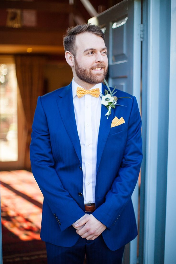 Image result for blue suit bow tie blue suit wedding