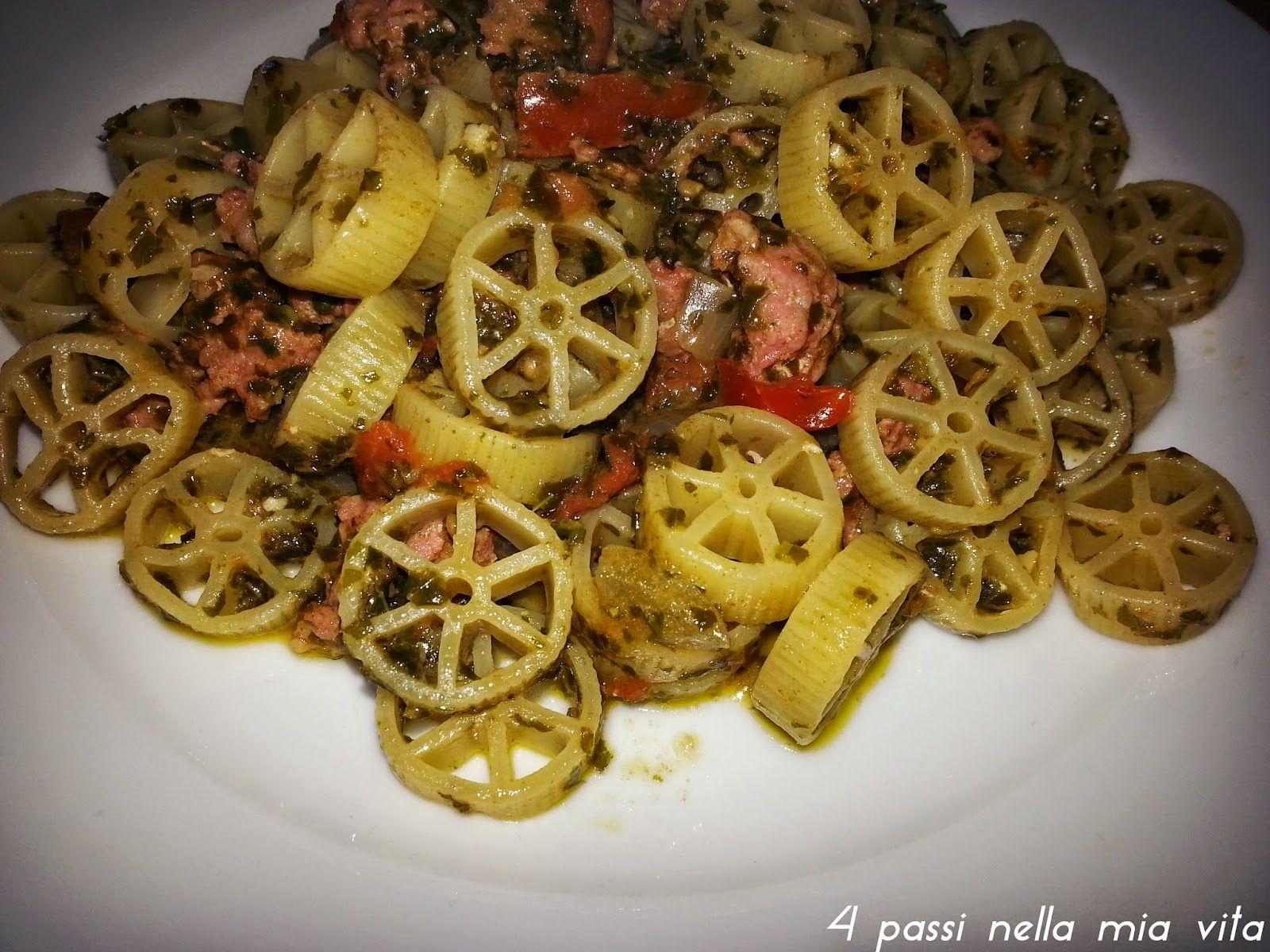 4 passi nella mia vita: Primi piatti: Ruote al pesto di basilico fresco, s...