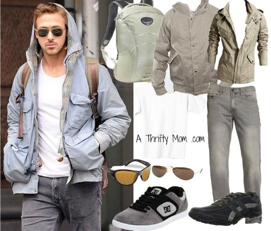 02625d68239f5 Ryan Gosling Copy Cat Fashion Style Board - Hoodie and grey jeans ...