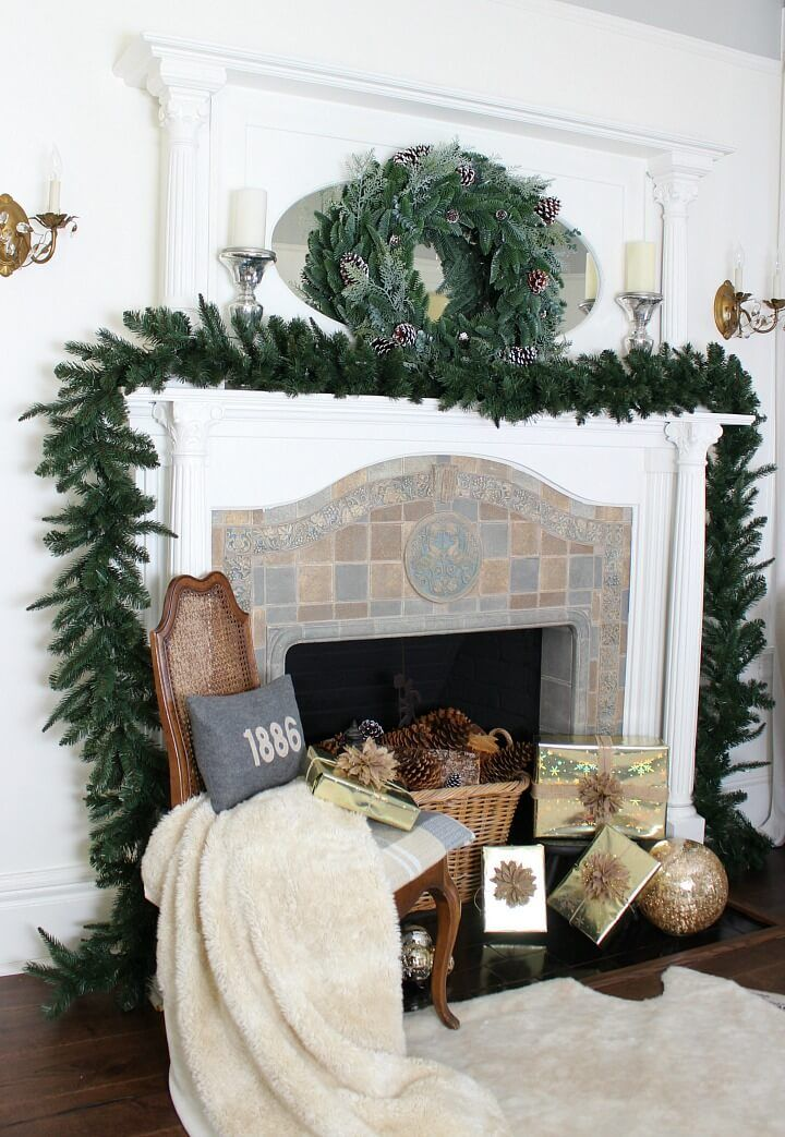 Christmas mantel decoration done easy and beautifully Christmas - christmas decorations for mantels