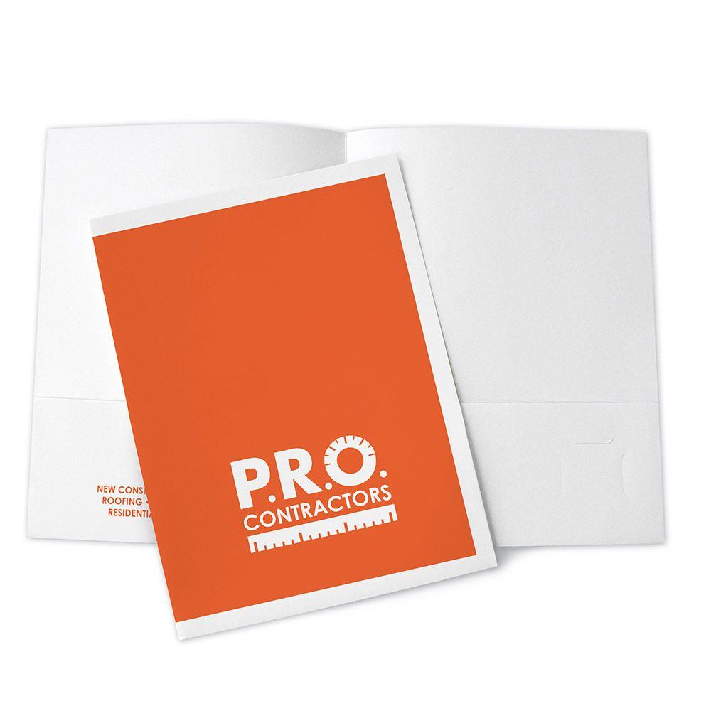 Custom Printed Presentation Folder, One Color   On The Ball ...