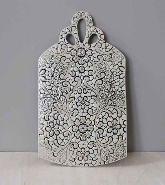 Items similar to Ceramic Cheese Board on Etsy