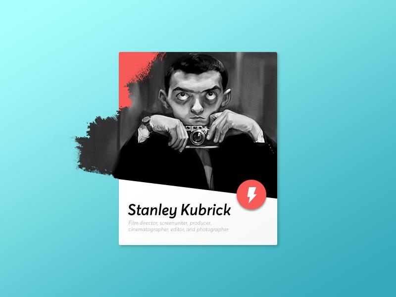 Stanley Kubrick Card Card design, Graphics inspiration