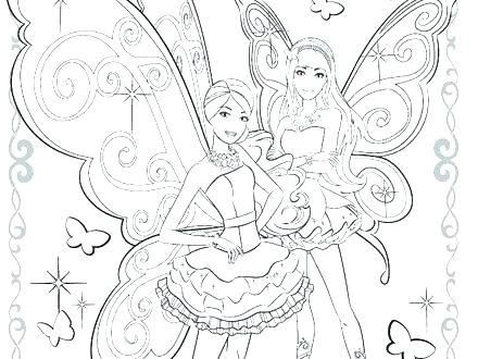 Barbie Fairy Coloring Pages Mermaid Fairy Princess Coloring Pages