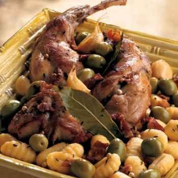 Lapin aux olives et aux gnocchis les gnocchis olives et - Cuisiner des gnocchis ...