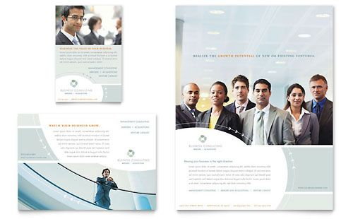 Business Consulting Flyer Ad Template Design Sample Design - Consulting brochure template