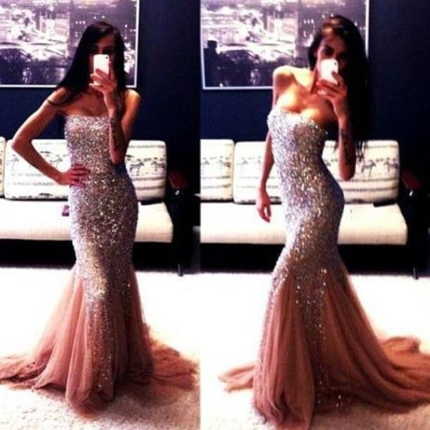 formal long sparkly dress | prom dresses | Pinterest | Pink gowns ...