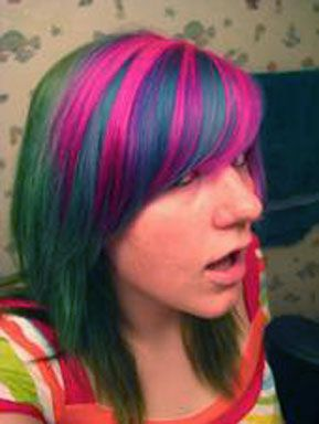 Atomic Pink Fishbowl And Iguana Green Special Effects Hairdye