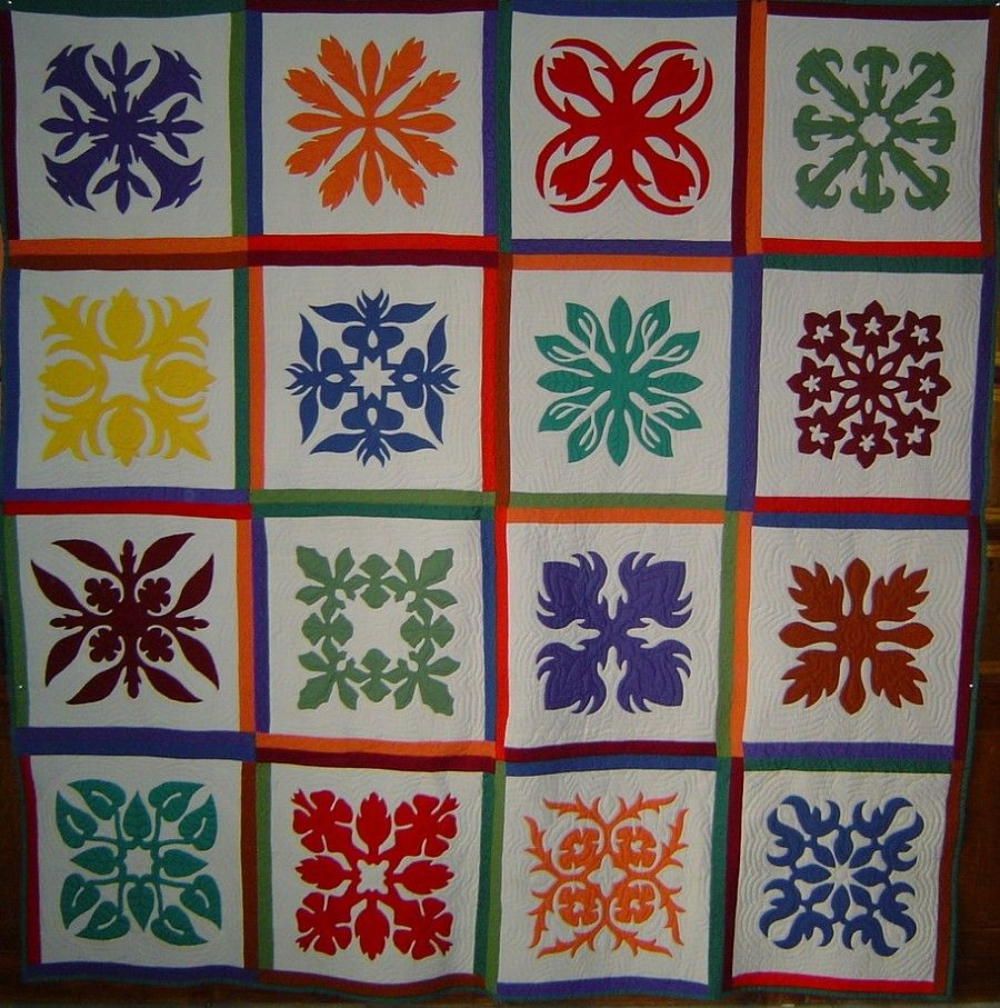 hawaiian quilt pictures | Hawaiian Quilts in Needlepoint - Nuts ...