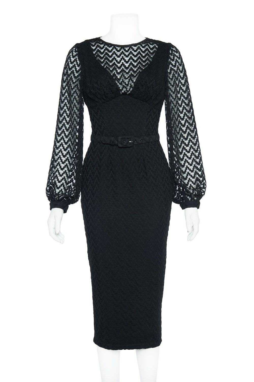 Laura Byrnes California Lisa Dress in Black | Pinup Girl Clothing