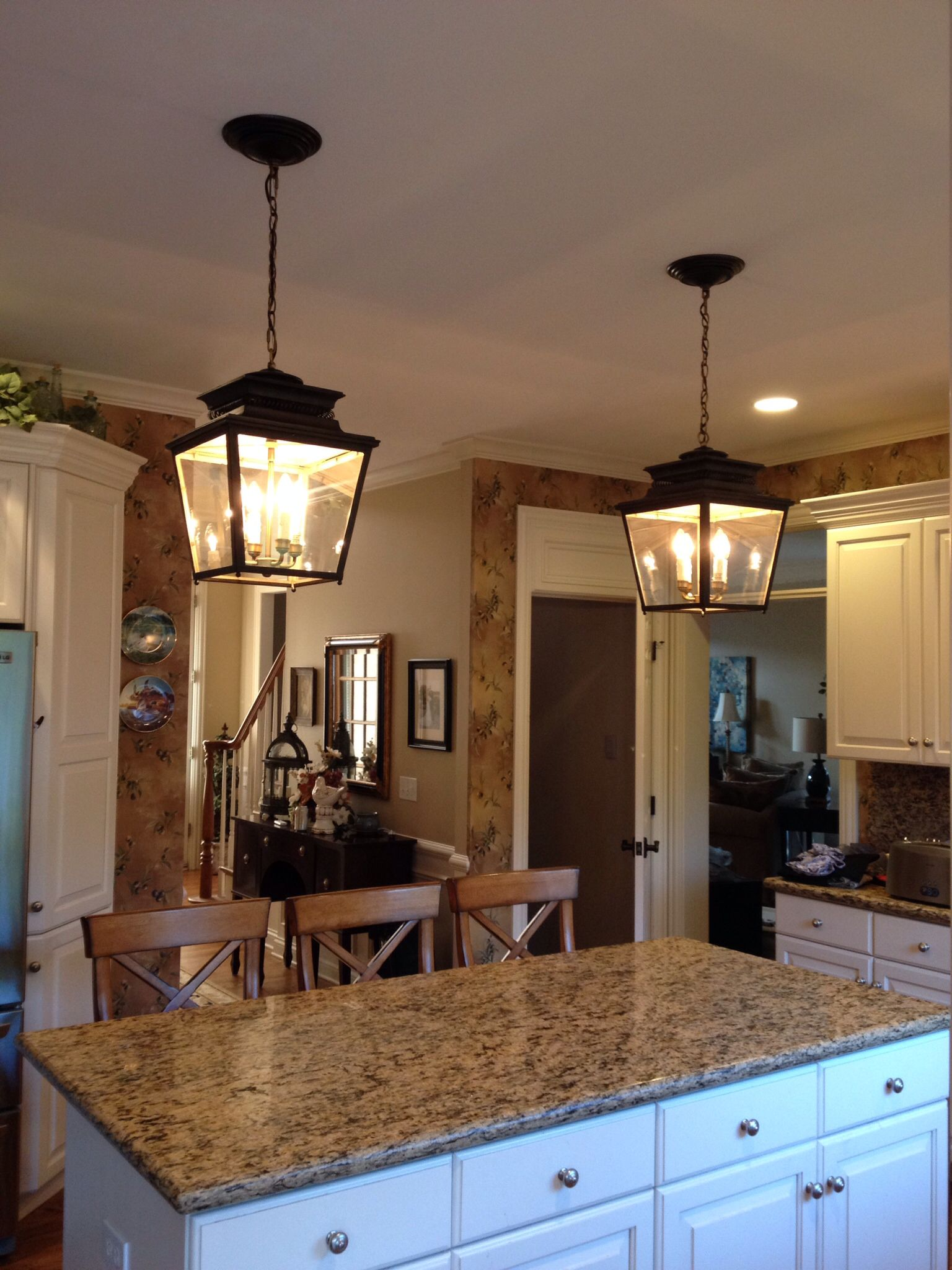 Lantern Lights - Ballard designs Piedmont lanterns over my island ...