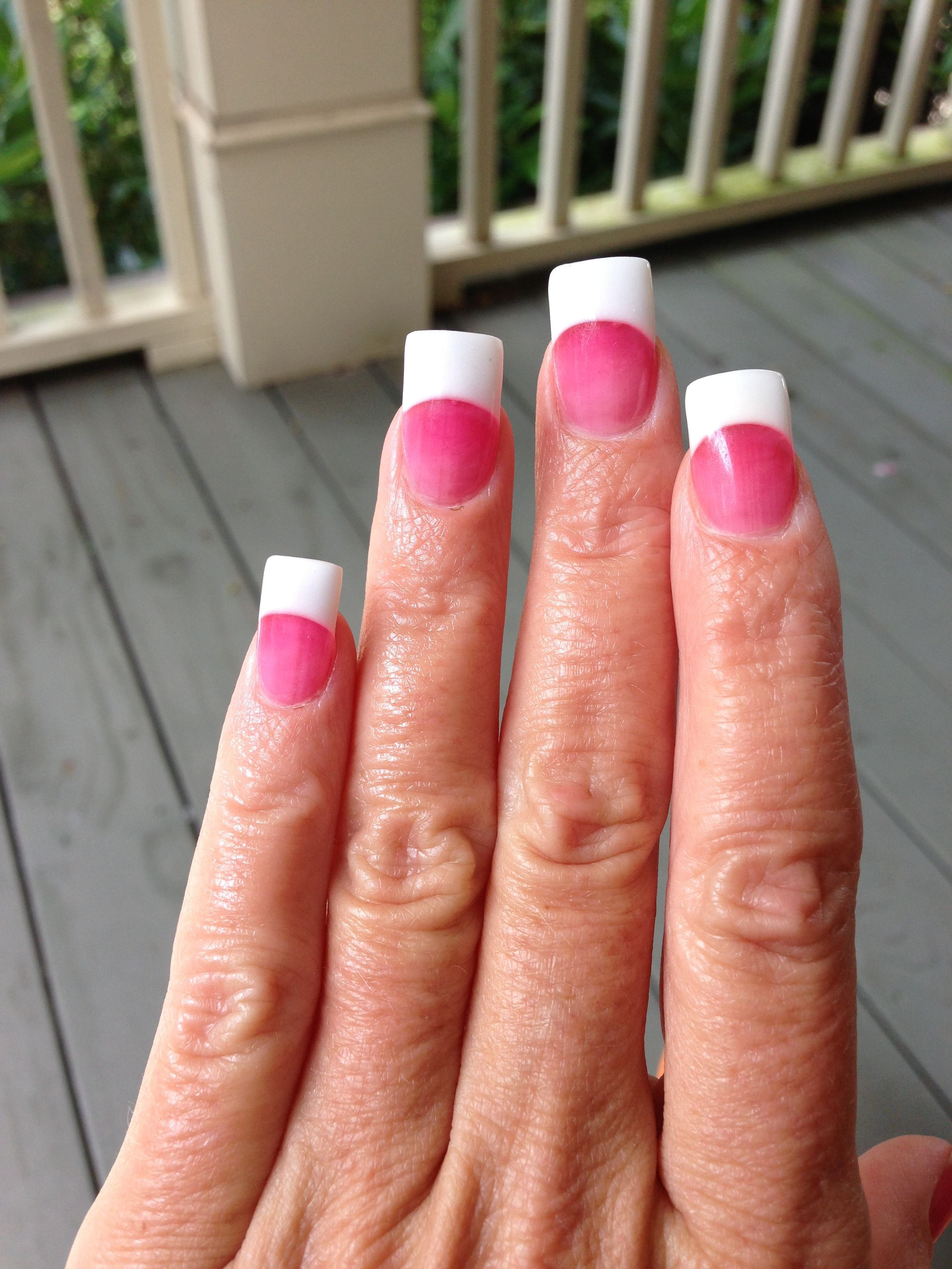 Nails pink and white acrylic French manicure | hi | Pinterest ...