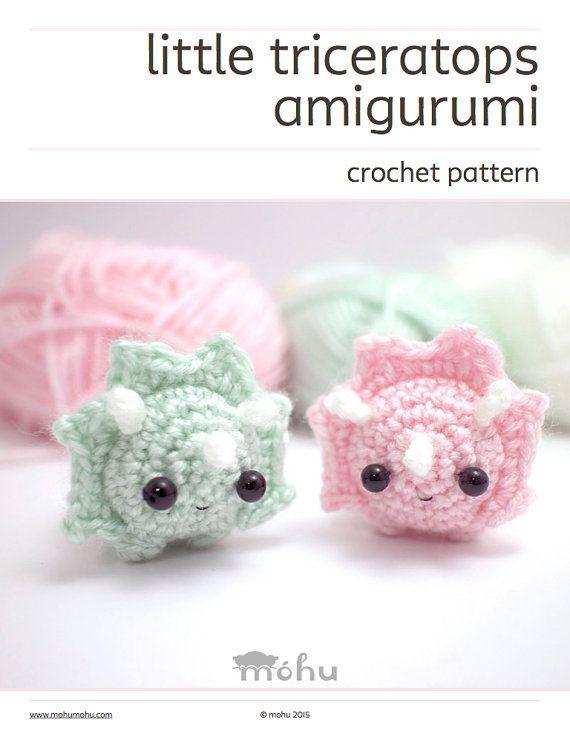Crochet dinosaur pattern - amigurumi triceratops pattern | Crochet ...