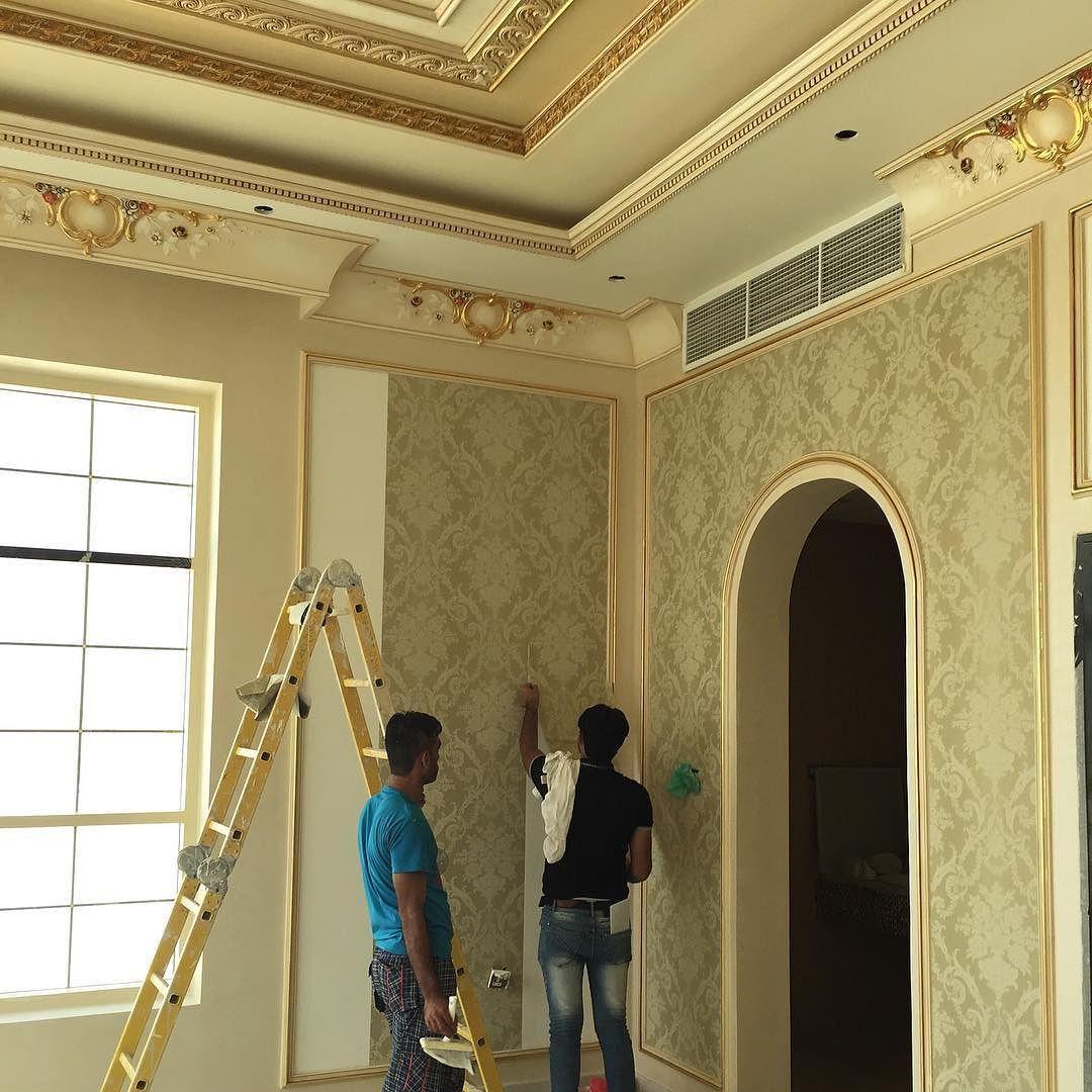 الابداع العصري للديكور On Instagram من اعمال شركه الإبداع العصري للأصباغ والديكور الحديث اعمال تصميم وتنفيذ الدي Gypsum Ceiling Design Ceiling Design Design