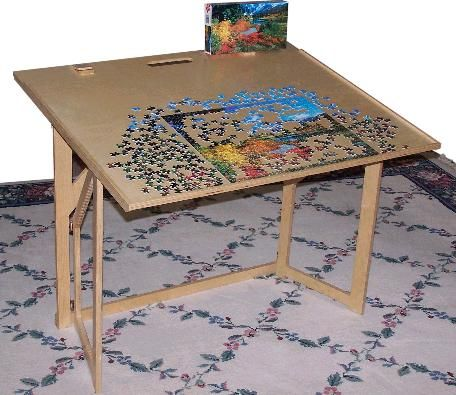Exceptional Unique, Attractive Hobby Table Features A Complete Jigsaw Puzzle Storage  System.