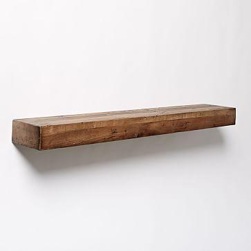Reclaimed Wood Floating Shelf 4\u0027 - badezimmer accessoires holz
