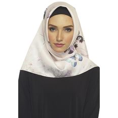 Hijabstore - Angel Lelga Original Scarf 001 - Putih Kupu Kupu