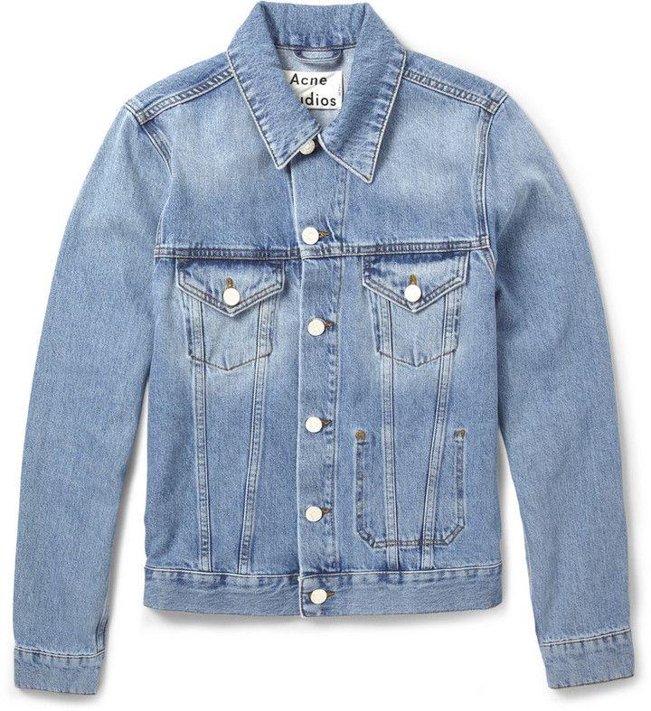 Jam Slim Fit Washed Denim Jacket | Studios, Jackets and Denim jackets