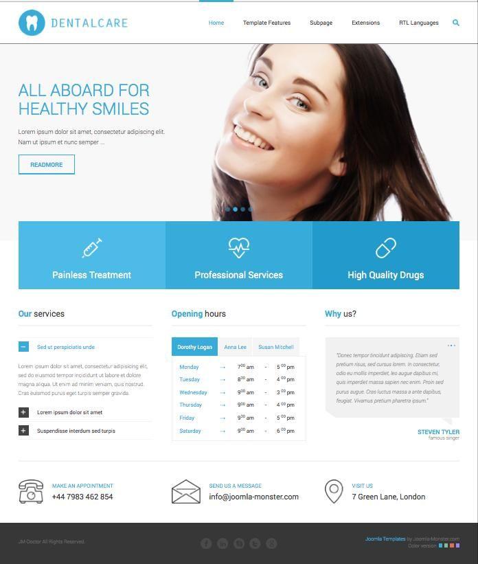dentist web templates