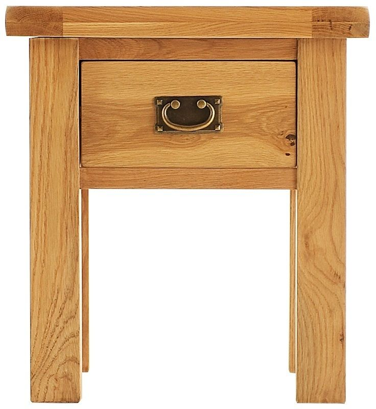 Alton Oak Lamp Table With Drawer