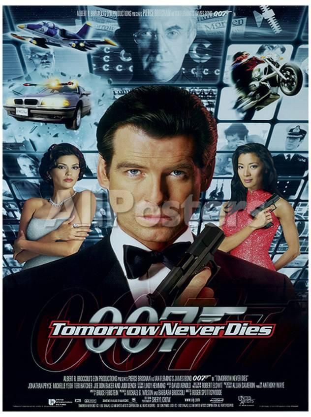 James Bond Tomorrow Never Dies One Sheet Movie Poster Print