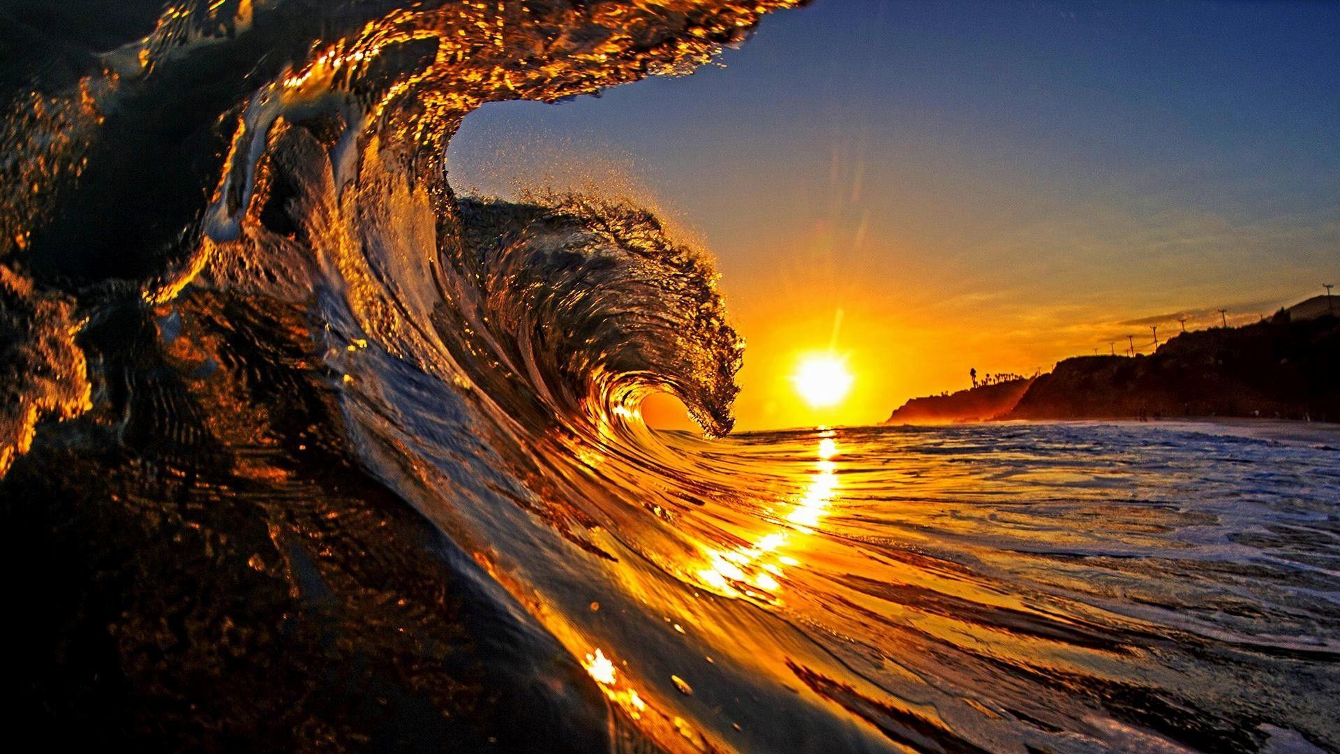 1920x1080 Sea Waves Wallpaper Widescreen Hd Sunset Surf Waves Wallpaper Sunset Wallpaper Hd wallpaper surfer wave ocean sky