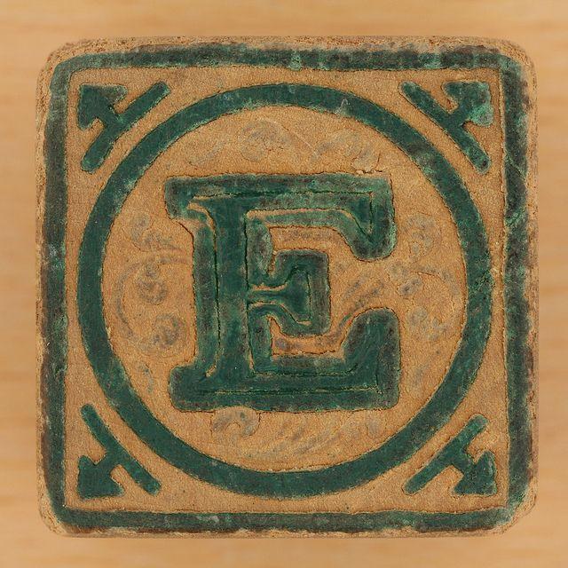 Vintage Wooden Block Letter E  Wooden Block Letters Block