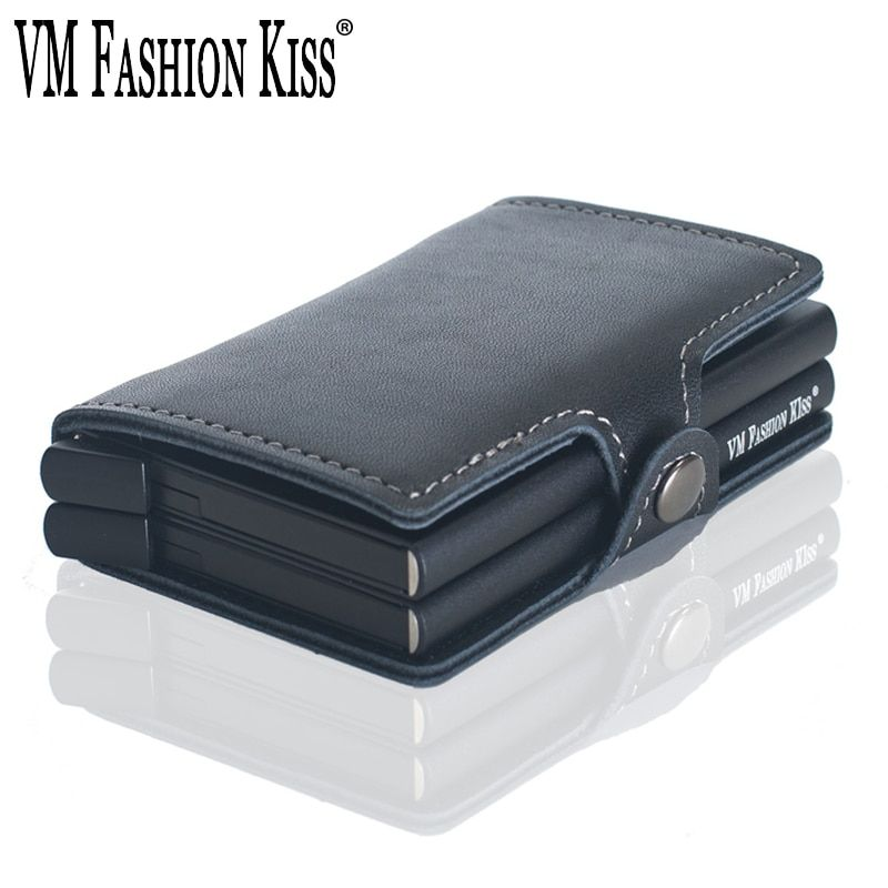 Universe Of Goods Buy Vm Fashion Kiss Rfid Wallet Safe Genuine Leather 2 Aluminum Box Credit Card Wallets Anti Scannin Credit Card Wallet Wallet Safe Wallet